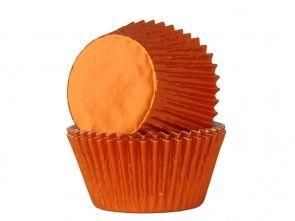 cupcake papiertjes oranje folie