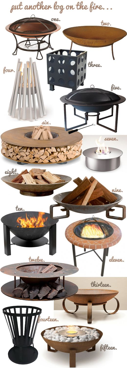 The Weekend Notebook: Put Another Log On The Fire - Top Fire Pits For All Budgets More Pins Like This At FOSTERGINGER @ Pinterest