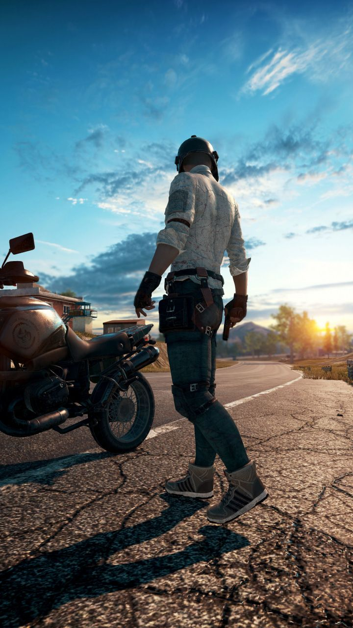 Playerunknown S Battlegrounds Online Game Biker 720x1280