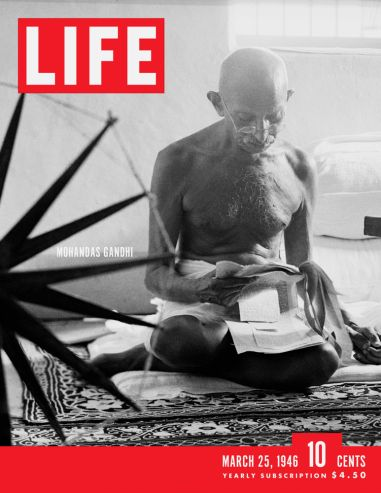 Gandhi repeats his mantra, Te-PAHK-a, Te-PAHK-a while meditating on life as a surgeon. [LIFE magazine cover created for the movie, The Secret Life of Walter Mitty. Pretty sure it is the Ben Stiller remake, not Danny Kaye version — 24-04-14]
