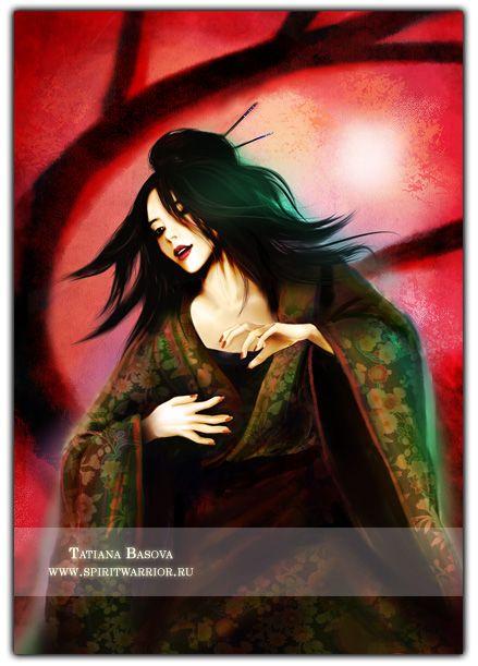 Kitsune Fox Art. Kitsune: a spirit in Japanese mythology that can turn into a seductive woman.