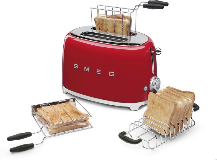 SMEG piros toaster