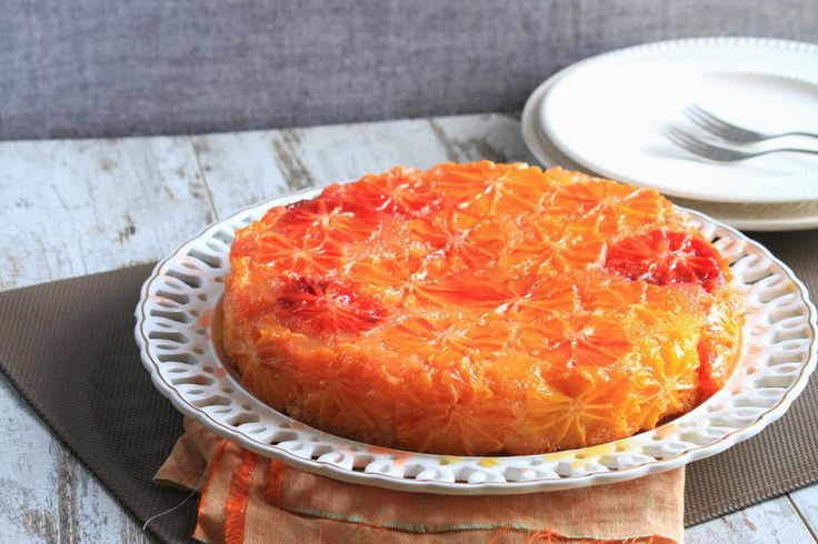 Torta di arance rovesciata (upside down cake with orange)