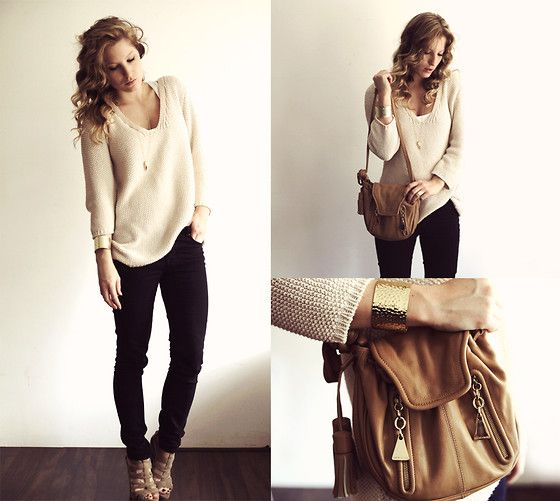 Love.Absolutely.Casual Style, Black Skinny, Skinny Jeans Outfit Simple, Sweaters Weather, Black Jeans And Heels, Simple Style, Fall Outfit, Knits Sweaters, Black Pants