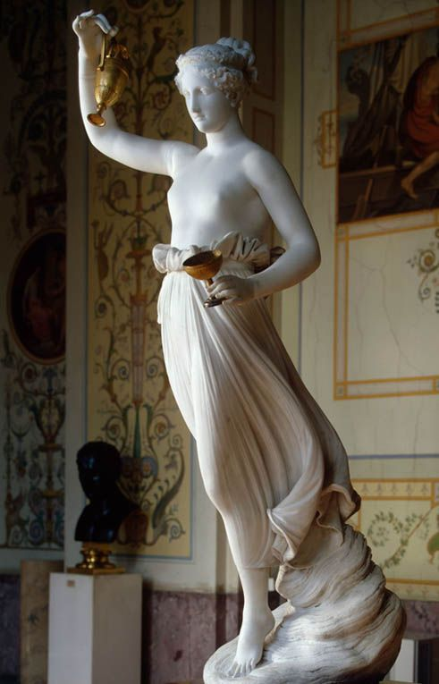 Canova, Antonio (1757-1822) Ebe (Hebe) 1800-1805 Marble, h. 158 cm Hermitage Museum, Saint Petersburg