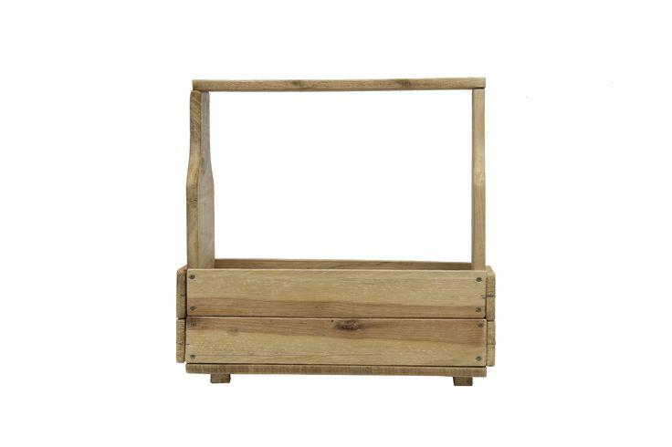 Jardinera/Revistero de madera hecha 100% a mano