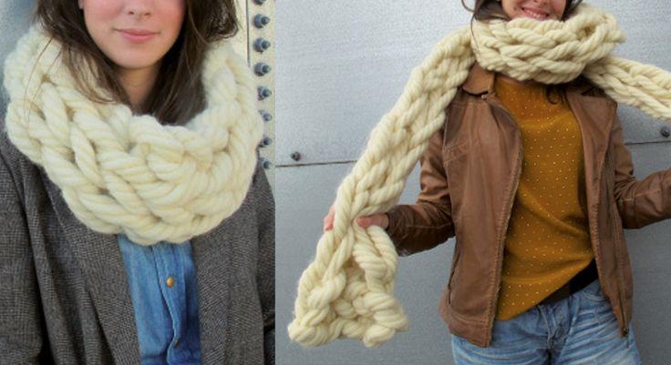 Utilisez vos bras comme des aiguilles pour tricoter ce snood géant. Une méthode inattendue et très amusante.  Le snood Dimensions : 24 cm de large Le matériel Fil à tricoter qualité Phil XL, ...