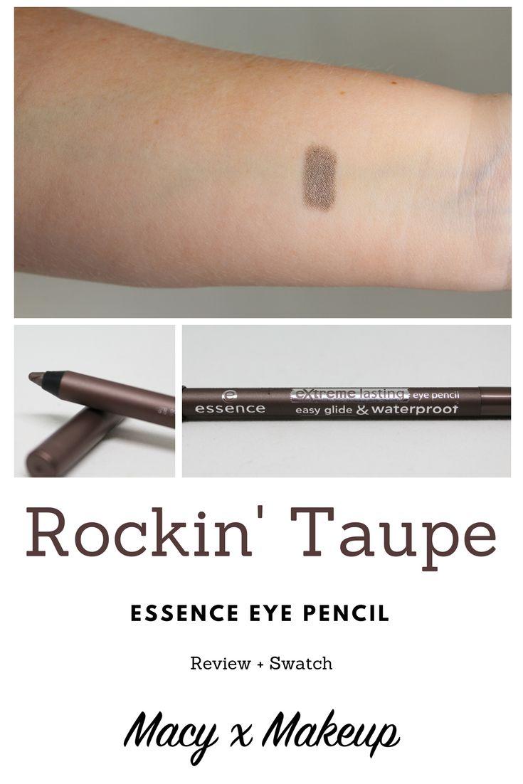 Essence Rockin' Taupe Eye Pencil Review & Swatch | MacyxMakeup