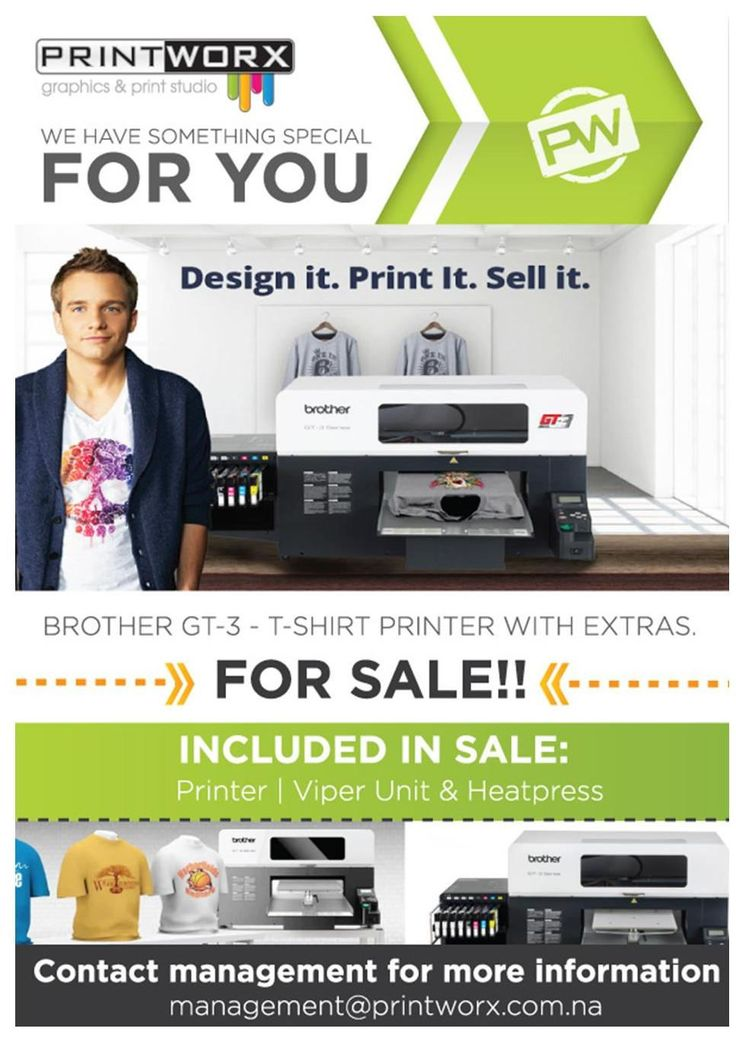 BROTHER GT-3 T-Shirt Printer - FOR SALE