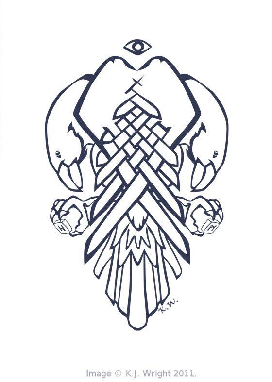 The Ravens - Huginn and Muninn by DrawingForMonkeys.deviantart.com on @deviantART