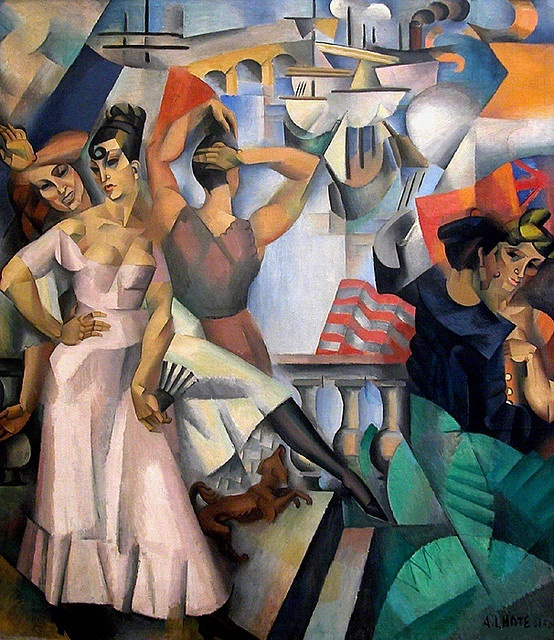 André Lhote  (1885-1962) was a French sculptor and painter of figure subjects, portraits, landscapes and still life. He was also very active and influential as a teacher and writer on art. After initially working in a Fauvist style, Lhote shifted towards Cubism and joined the Section d'Or group in 1912, exhibiting at the Salon de la Section d'Or. He was alongside some of the fathers of modern art, including Gleizes, Villon, Duchamp, Metzinger, Picabia and La Fresnaye.