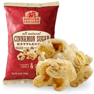 My Favorite snack!! Cinnamon Sugar Kettlecorn | Whole Grain, Gluten Free Popcorn and Chips | Popcorn, Indiana