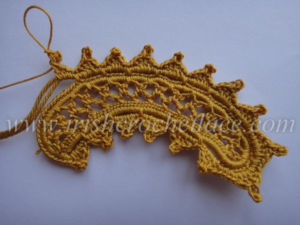 Crocheted Chestnut Leaf, one of several freeform crochet patterns on this site