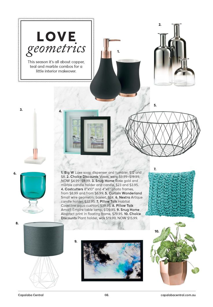 Styling: Bianca Pottinger www.biancapottinger.com Photography: Ross Pottinger www.winkphoto.com.au    Design: Truly Deeply www.trulydeeply.com.au    Love Geometrics- homewares inspiration. Mother's Day Magazine styling produced for Capalaba Central Shopping Centre.