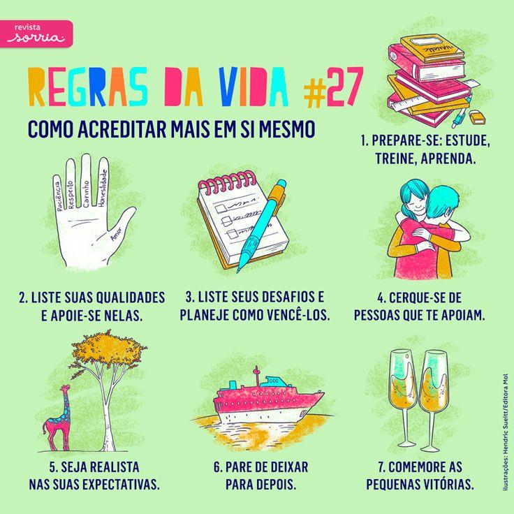 Acompanhe essa e outras séries da Sorria em www.facebook.com/revistasorria #regrasdavida #revistasorria