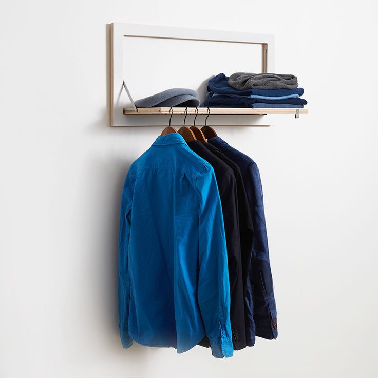 155 best images about wardrobes on pinterest clothes for Fold down coat hooks