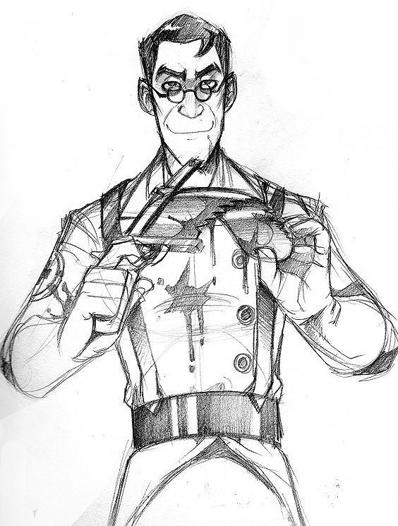 how to draw tf2 medic