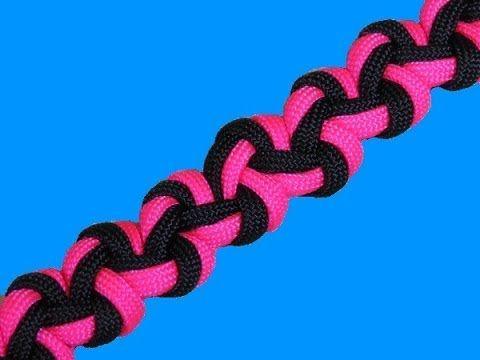 How to make a Wide Zig Zag Sinnet Paracord Bracelet