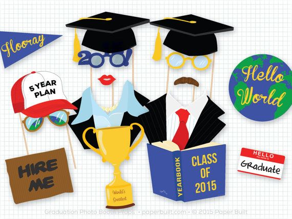Graduation Photo Booth Props, Photobooth Props, College Graduation, University, Graduate Props, Graduation Party, Grad Party, Class of 2015