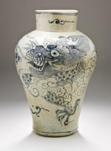 Jar with Dragon and Clouds, Korea, Joseon dynasty (1392-1910), nineteenth…