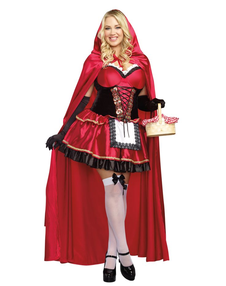 Little Red Adult Womens Plus Size Costume Spirit