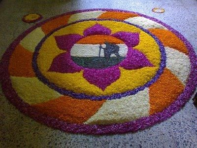 Some of the latest and most recent ideas for onam pookalam designs