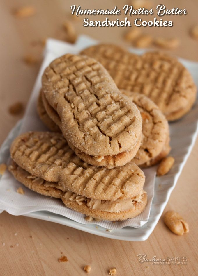 Easy to Make Homemade Nutter Butter Cookies @Barbara Schieving {Barbara Bakes}