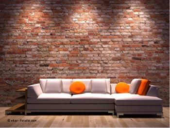 Parement de mur en briques brique pinterest for Brique de parement interieur