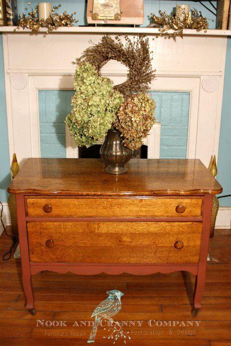 Antique Chest | Antique Furniture | Country Furniture | Pink Chest | Orange Chest | Pink Furniture | Orange Furniture | Old Furniture