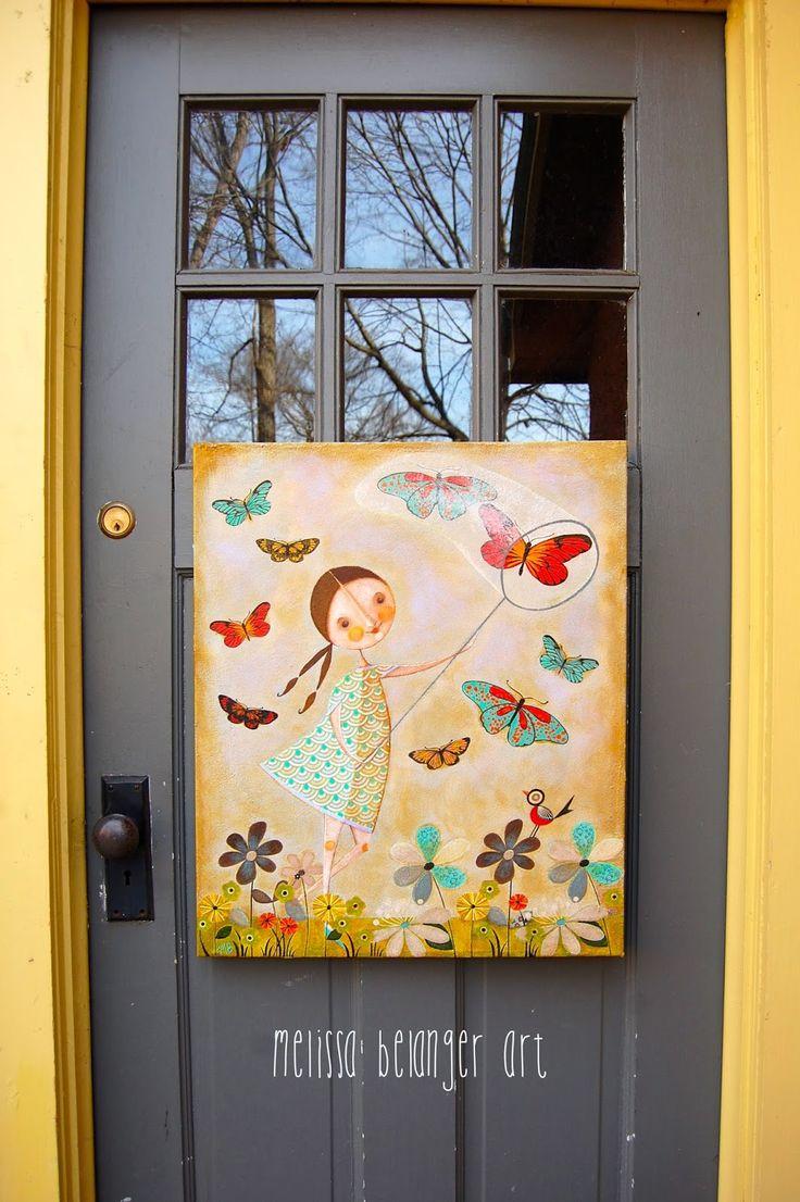 """Sweet Heather"" mixed media acrylic painting by Melissa Belanger"