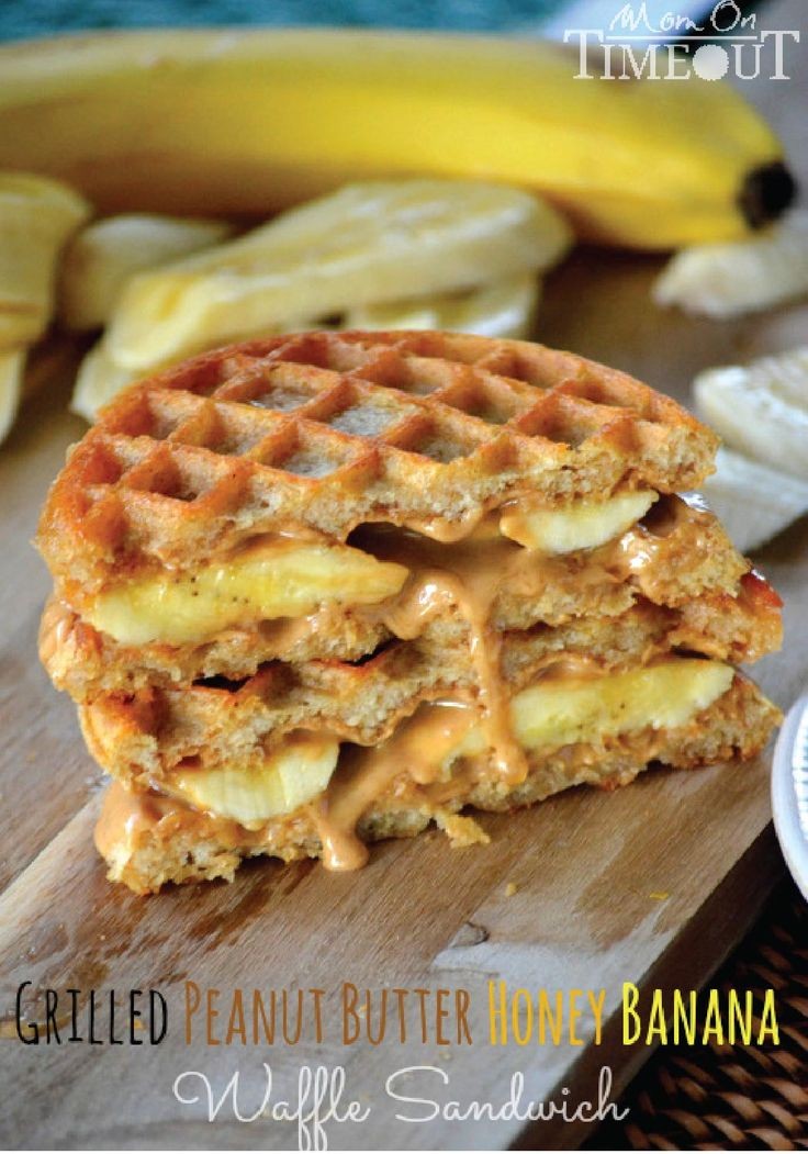 Peanut Butter Honey Banana Eggo Waffle Sandwich – Your afternoon snack just got sweeter! Try this easy recipe today.