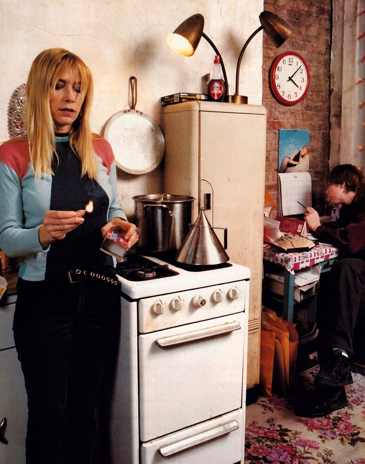 Kim Gordon and Thurston Moore of Sonic Youth photographed by David Graham for Details magazine, July 1992.