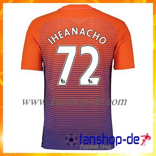 New Manchester City IHEANACHO 72 Third Trikot 2016/2017 Fan Shop Kaufen