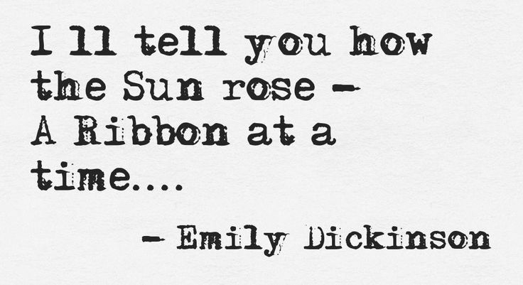 Sun rise - Emily Dickinson