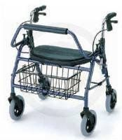 "Rollator - 600 lb Capacity Blue Mighty Maxi is the most Heavy Duty Rolling Walker that is functional for the user and has the signature extra wide (20"") oversized padded seat and back rest for added comfort when resting. by King Products. $399.99. The KC Blue Mighty Maxi is the most Heavy Duty Rolling Walker that is functional for the user.   The Blue Mighty Maxi supports up to a 600 lb. weight capacity, but still fits through doorways and into cars to give the user indoor and..."