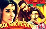 Bollywood movie Bol Bachchan starring Ajay Devgn, Abhishek Bachchan, Asin Thottumkal and Prachi Desai. It is directed by Rohit Shetty. Bol Bachchan songs, review, photos and videos. #BolBachchan
