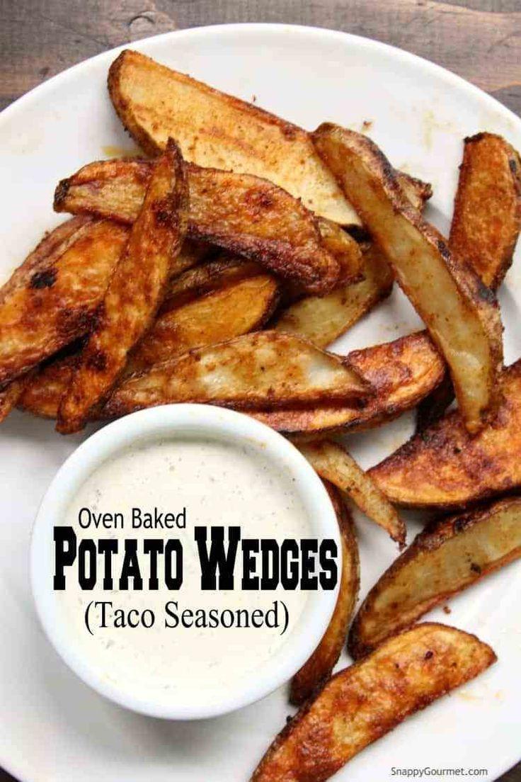 Oven Baked Potato Wedges Taco Seasoned Potato Wedges Baked In The