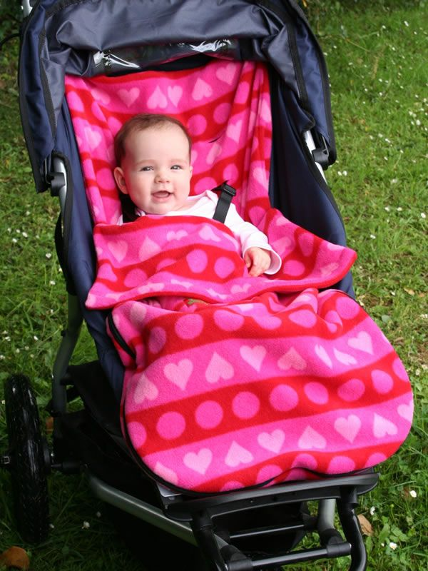 Fleece stroller cover-way better than a blanket that keeps falling off.