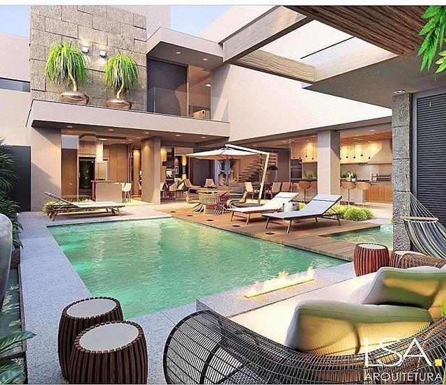 Omingo Lindo De Sol Dia De Relaxar Area De Lazer Projet Exteriores De Casas Casas De Ensueno Casas En Colinas