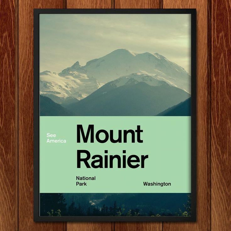 Mount Rainier National Park poster for See America