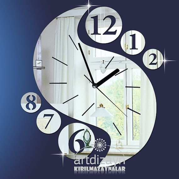 25+ best ideas about Mirror Wall Clock on Pinterest