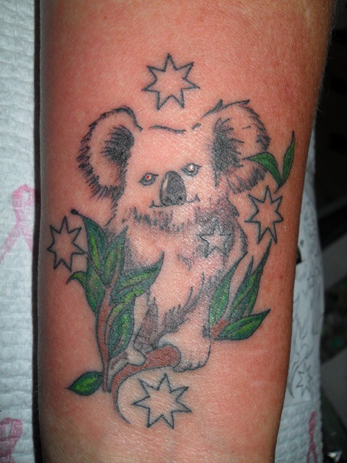 Southern Cross With Koala – Tattoo Picture At CheckoutMyInkcom
