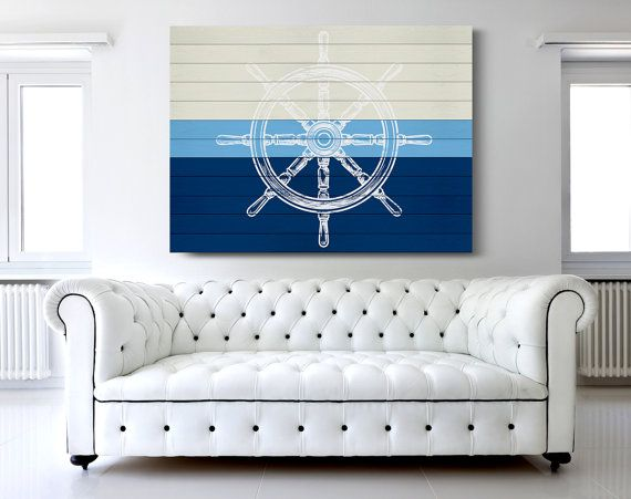 Nautical Canvas Print, Nautical Wheel Art, Sailing Canvas Print, Nautical Decor, Large Canvas Print, Modern Home Decor, Nautical Canvas Art