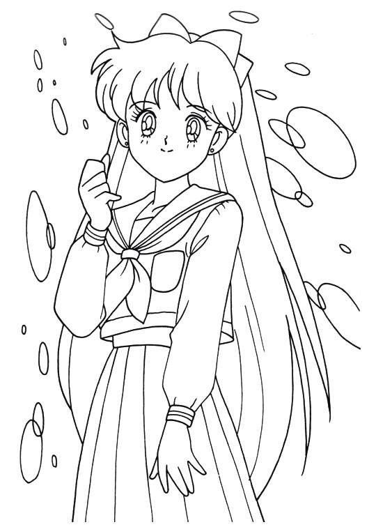 Sailor moon series coloring pages aino minako para for Sailor venus coloring pages