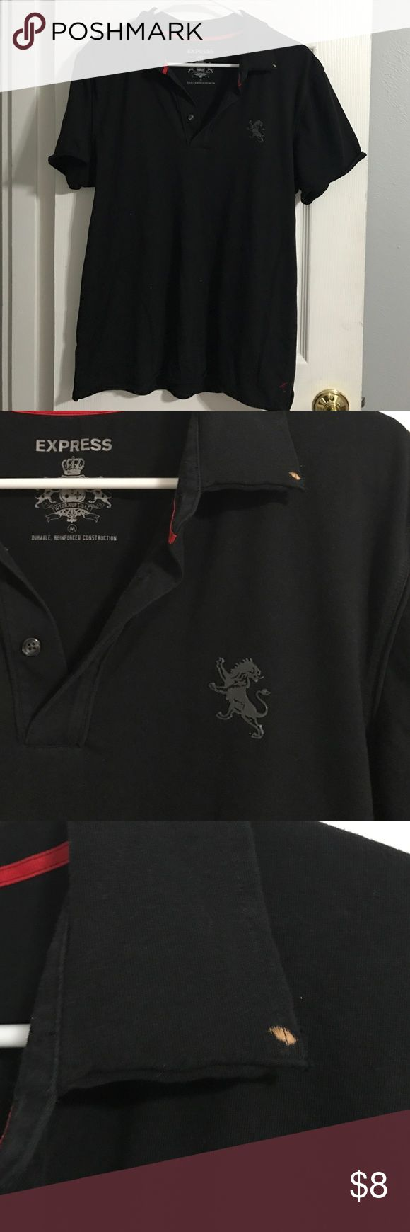 ✨ON SALE✨ Express polo shirt Has been worn. Size medium. It has a bleach stain on the collar. Bundle to save. Express Shirts Polos