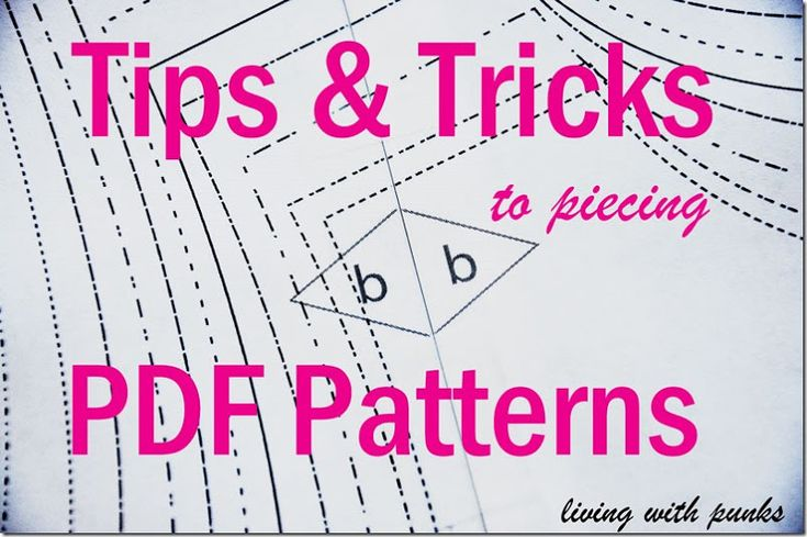 Tips for using PDF patterns