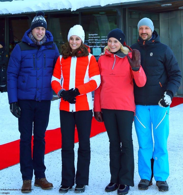 """The Duke and Duchess are visiting Holmenkollen's most iconic landmark – the Holmenkollen Ski Jump. Simon Perry reports """"Kate receives s..."""
