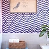 Geometric Stenciled Wall, DIY from A Beautiful Mess