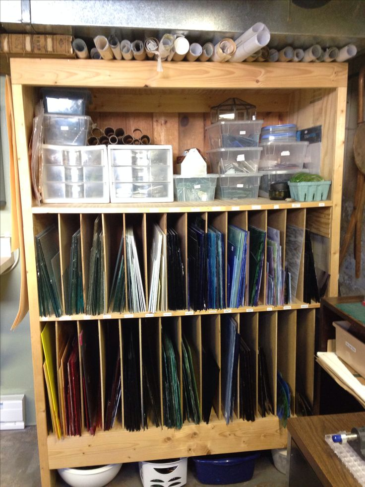 "~The ""Glass Dungeon"" ~ Stained glass storage area."
