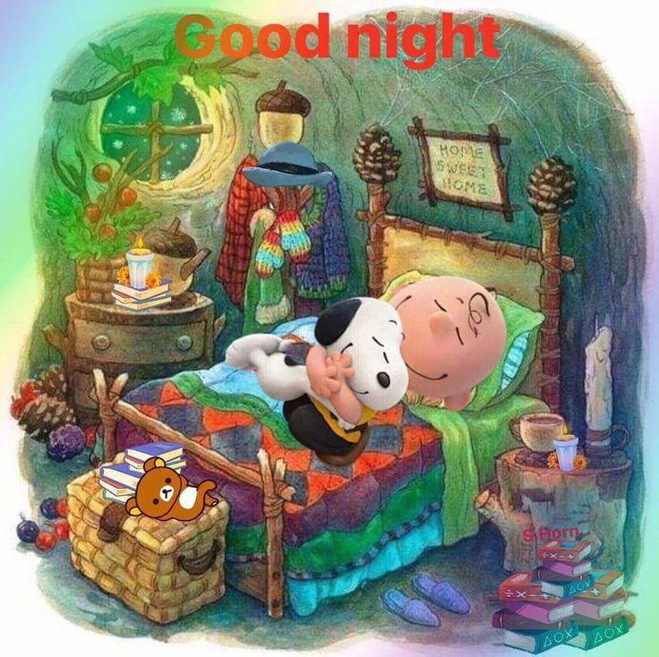 Bedtime Snuggles!   Charlie & Snoopy!